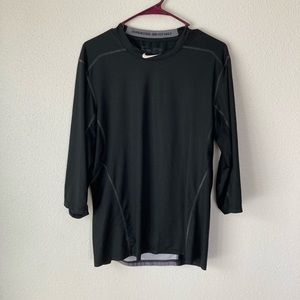 Nike Pro Combat Dri Fit Fitted 1/2 Sleeve Tee